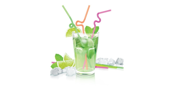 Drinking straws myDRINK, long hinge, 40pcs