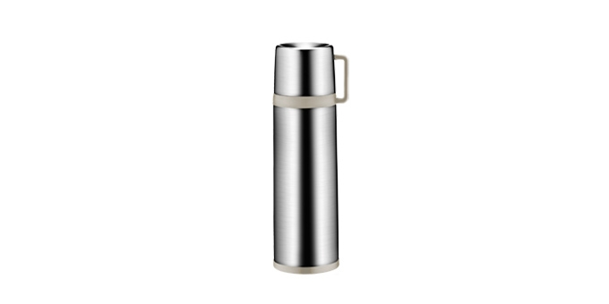 Vacuum flask with cup CONSTANT MOCCA 0.7 l, stainless steel