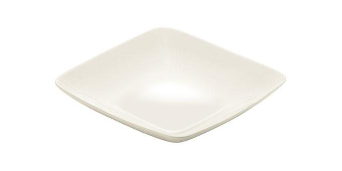 Prato de sopa CREMA, 21x21 cm