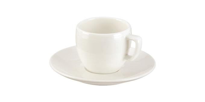 Chávena de café CREMA, c/ pires