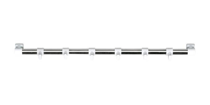 Závesná lišta PRESTO 40 cm, 6 bielych háčikov