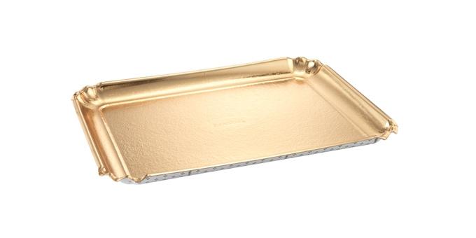 Vassoio DELÍCIA 42x31 cm, oro, 2 pz