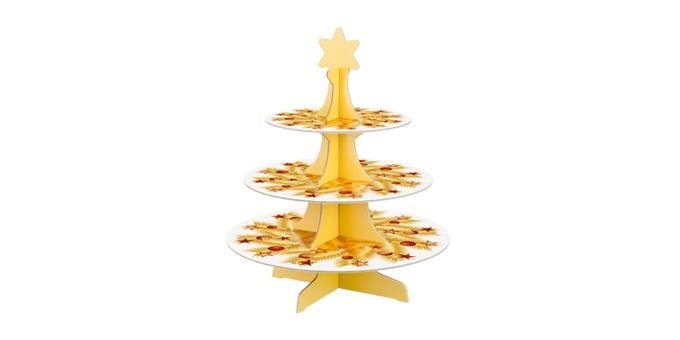 Alzata a 3 piani DELÍCIA, decorazioni natalizie
