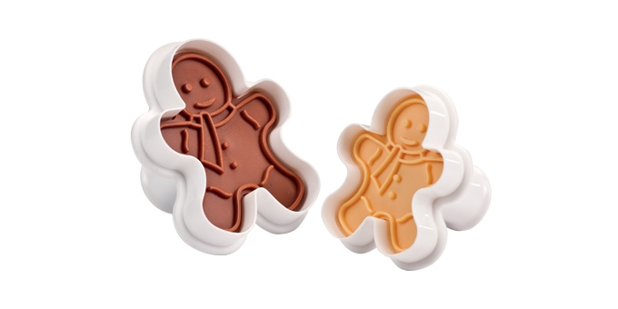 Cookie cutters with stamp DELÍCIA, 2 pcs, figures