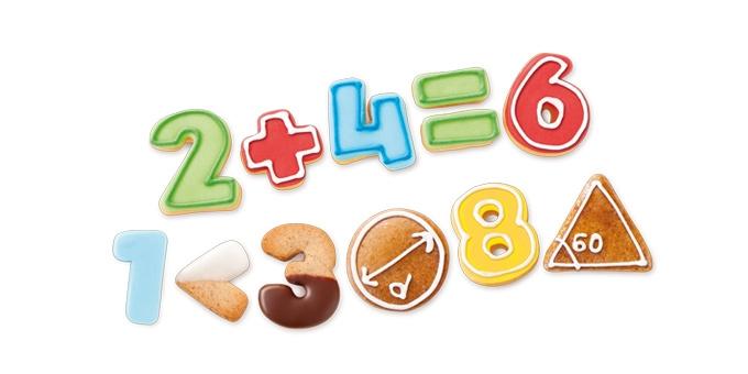 Vynikajúce na vykrajovanie cukroviniek v tvare číslic a
