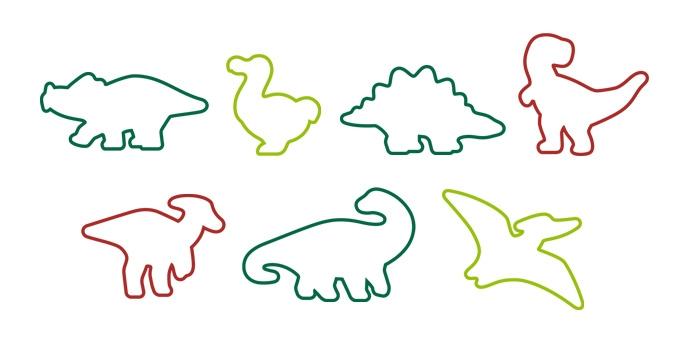Corta massas dinossauros DELÍCIA KIDS, 7 ps