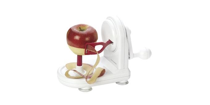 3. приспособление для очистки кожуры у яблок Handy имеет присоски для.