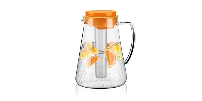 Pitcher TEO 2.5 l, with infusion and refrigeration features