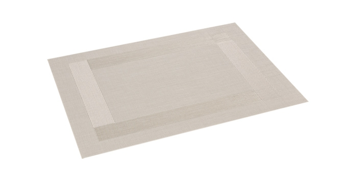 Mantel individual FLAIR FRAME 45x32 cm, perla
