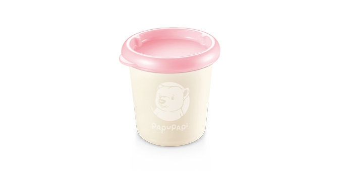 Contenedor PAPU PAPI 200 ml, 2 pzs, rosa