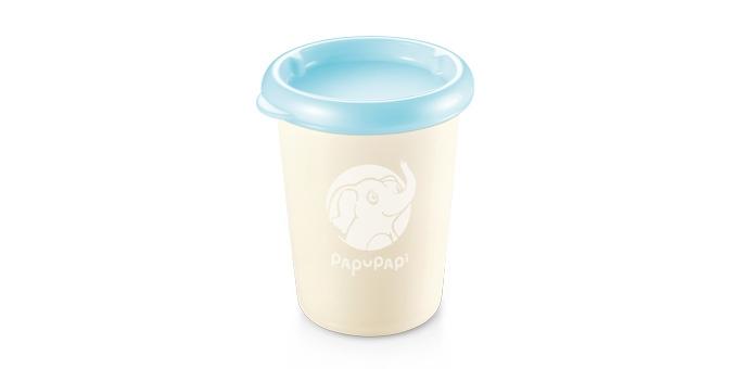 Contenedor PAPU PAPI 250 ml, 2 pzs, azul