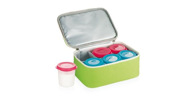 Preparador de Iogurte BAMBINI, 6 recipientes com saco térmico isolante