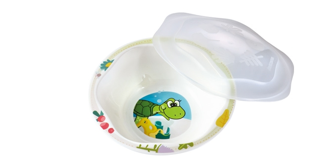 Dish with lid DINO