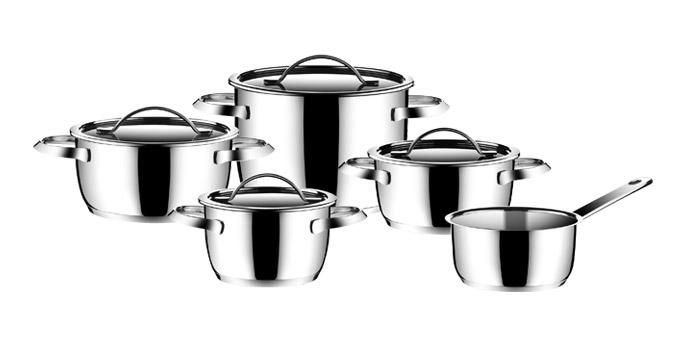 Набір неіржавіючого посуду AMILA, 9 предметів