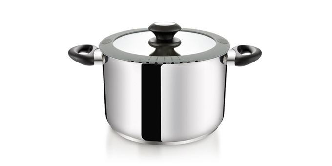 Deep pot SmartCOVER with cover ø24 cm, 7.0 l