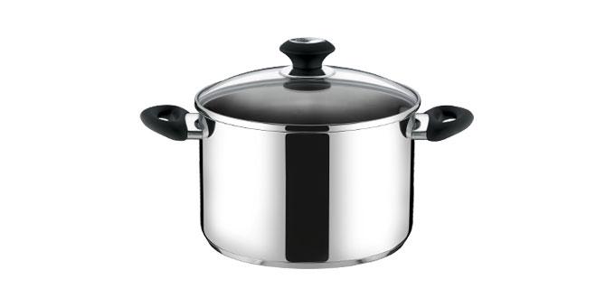 Deep pot PRESTO with cover, ø 24 cm, 7.0 l