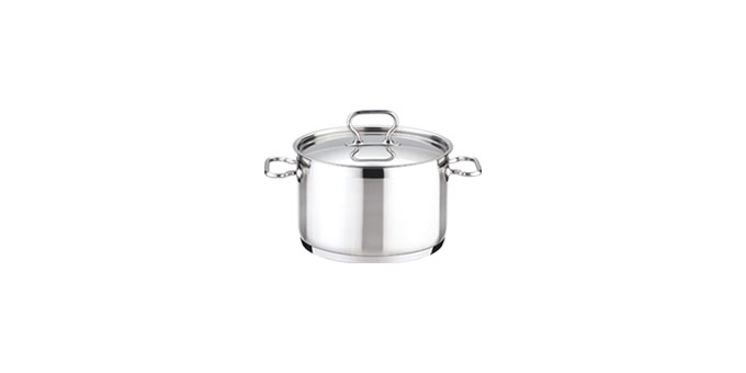 Deep pot HOME PROFI with cover ø14 cm