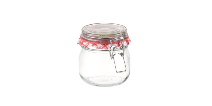Preserving jar with flip-top closure DELLA CASA 600 ml