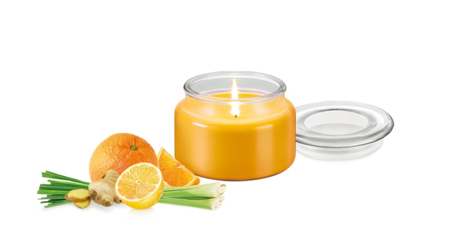 Scented candle FANCY HOME 200 g, Lemon grass