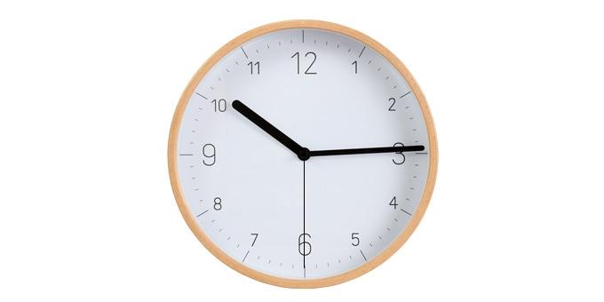 Reloj de pared FANCY HOME, madera, blanco