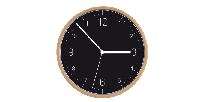 Wall clock FANCY HOME, wood, black face