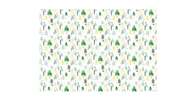 Christmas wrapping paper 70 x 100 cm, 6 pcs, white