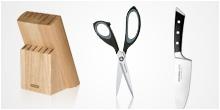 Noże, nożyczki, bloki na noże