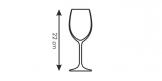 White wine glasses CHARLIE 350 ml, 6 pcs