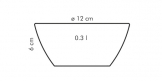 Taça CREMA ø 12 cm