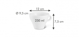 Tea cup ALL FIT ONE, Slim