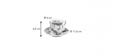 Espresso cup with saucer myCOFFEE, 6 pcs, Tropical