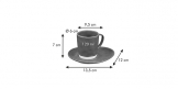 Espresso cup LIVING, with saucer