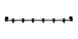 Závesná lišta PRESTO 40 cm, 6 čiernych háčikov