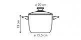 Кастрюля высокая PRESTO с крышкой, 3.5 l, ø20 см