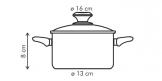 Кастрюля PRESTO с крышкой, 1,25 л, ø16 см