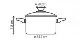 Casserole PRESTO with cover, 2.5 l, ø20 cm