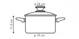 Casserole PRESTO with cover, 4.5 l, ø24 cm