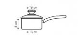 Saucepan PRESTO with cover, 1.4 l, ø16 cm