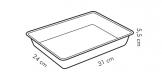 Tabuleiro fundo de forno DELICIA 31 x 24 cm