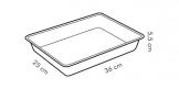 Teglia rettangolare alta DELÍCIA con coperchio plastica 36x25 cm