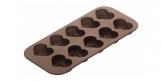 Formičky na čokoládu DELÍCIA SILICONE, valentínske srdiečka