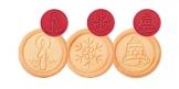 Timbro per biscotti DELÍCIA, 6 decori natalizi