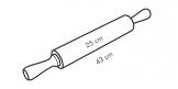 Matterello in acciaio inox DELÍCIA, 25 cm, ø 5 cm