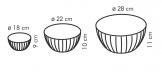 Ciotole in plastica DELÍCIA, set 3 pz