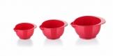 Taças de plástico DELÍCIA, conj. 3