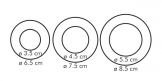Двухсторонние формочки колечки DELÍCIA, 6 размеров