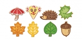 Autumn cookie cutters DELÍCIA, 8 pcs