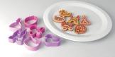 Corta massas para meninas DELÍCIA KIDS, 6 pcs