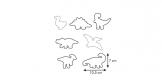 Cortapastas dinosaurios DELÍCIA KIDS, 7 pzs