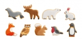 Animal cookie cutters DELÍCIA KIDS, 9 pcs